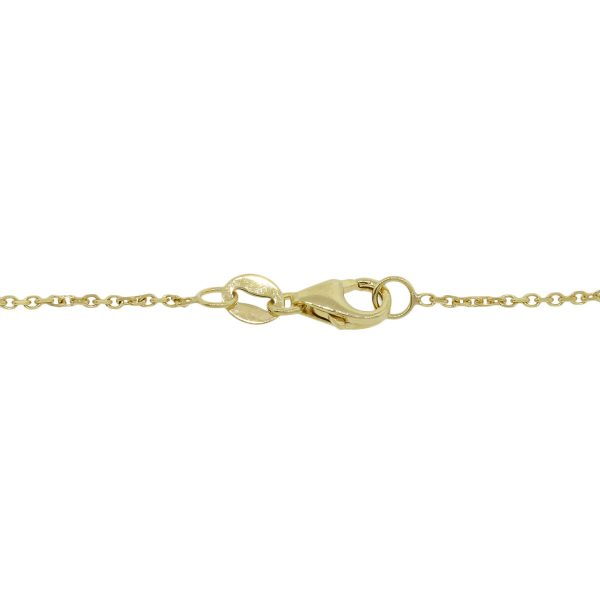 """14k Yellow Gold 18"""" 1mm Chain Link Necklace"""