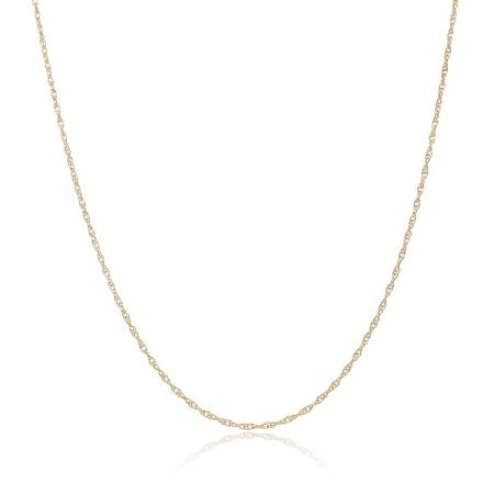 "14k Yellow Gold 16"" Rope Chain Necklace"