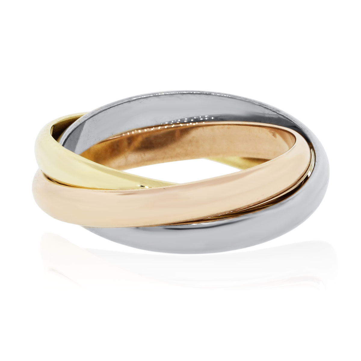 Cartier Trinity large model ring in 3 golds
