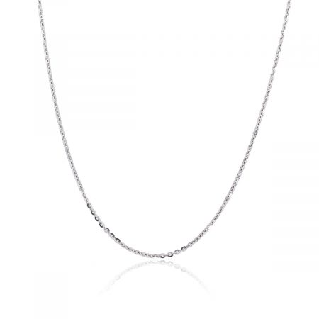 "Officina Bernardi Platinum 18"" Thin Chain Necklace"