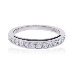 14k White Gold 0.30ctw Diamond Wedding Band