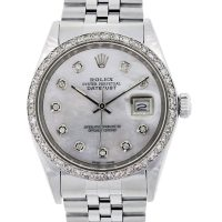 Rolex 69160 Datejust MOP Diamond Dial and Bezel Gents Watch