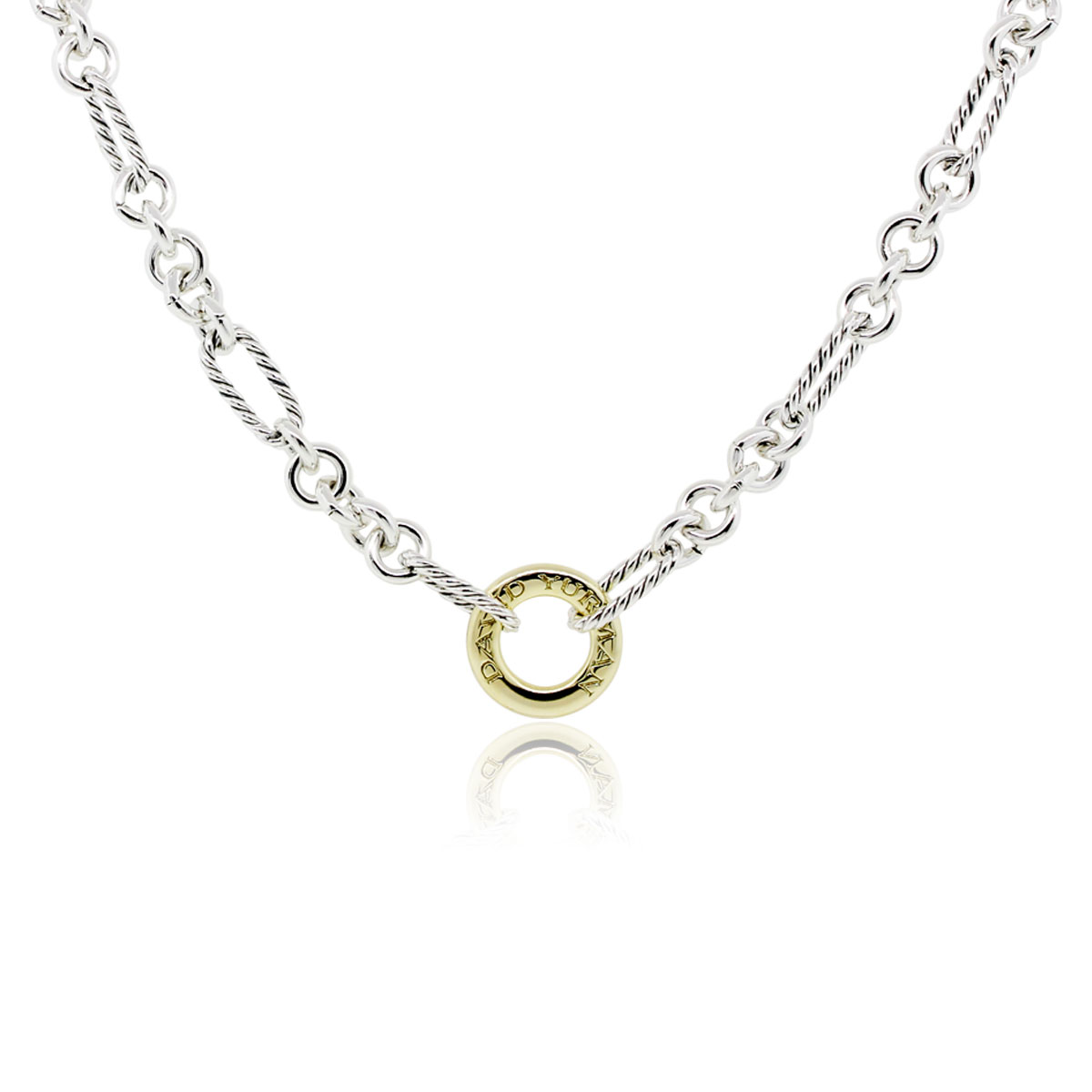 David yurman figaro two tone link chain necklace for David yurman like bracelets