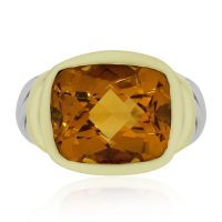 David Yurman 14k Yellow Gold Two Tone Noblesse Citrine Ring