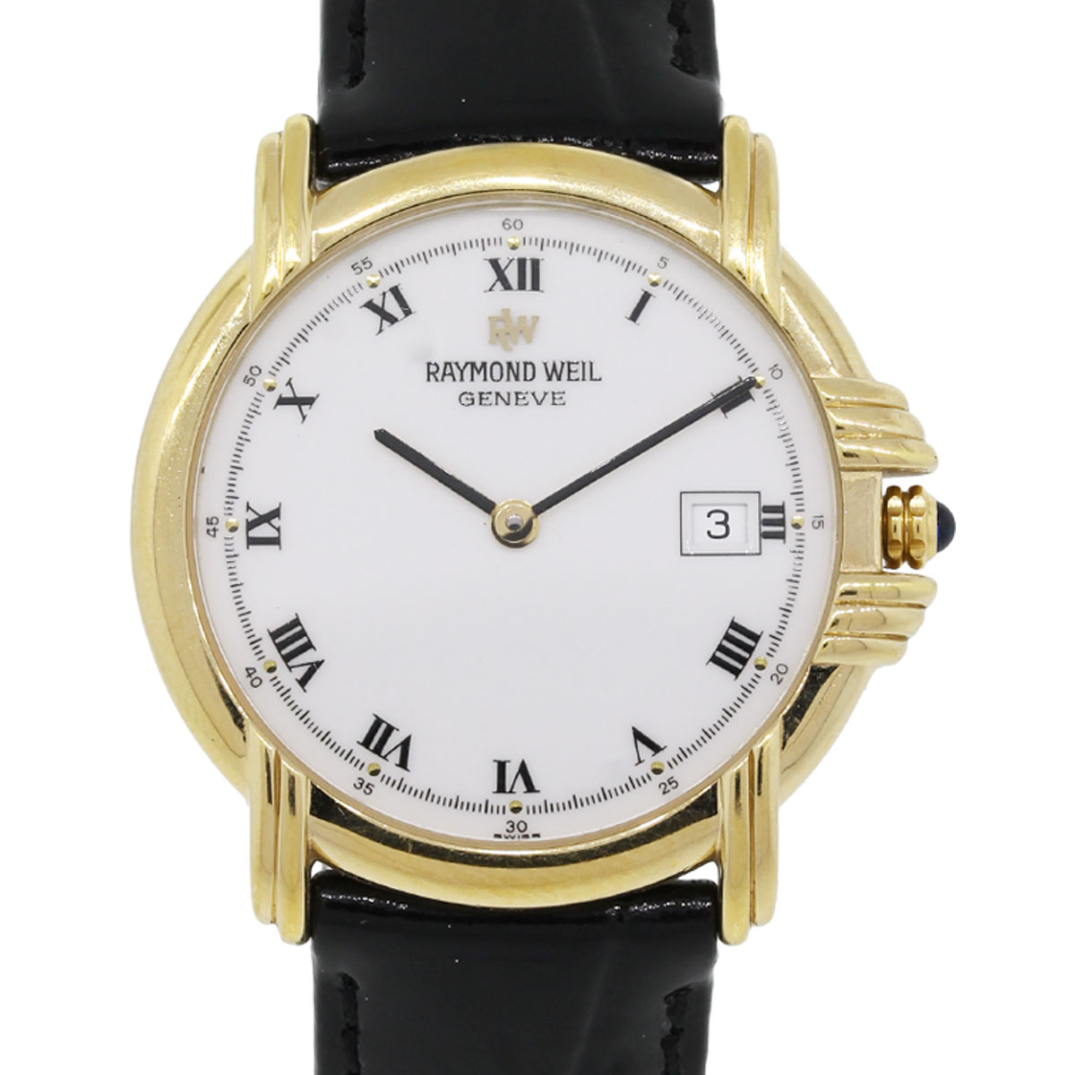 raymond weil 9155 electroplated yellow gold white