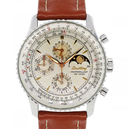 Breitling A19030 Montbrilliant 1461 Jours Moonphase Steel Gents Watch