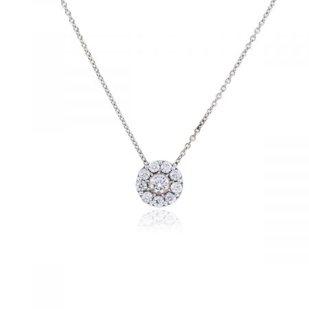 Hearts On Fire 1.50ctw Diamond 18k White Gold Necklace