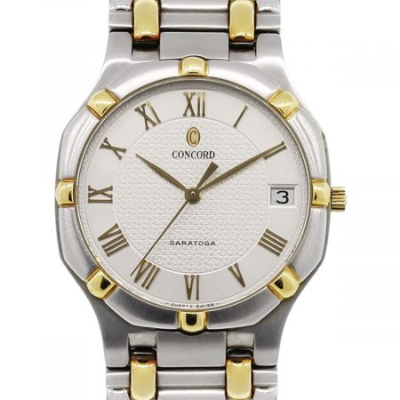 Concord Saratoga Two Tone Silver Roman Dial Gents Watch