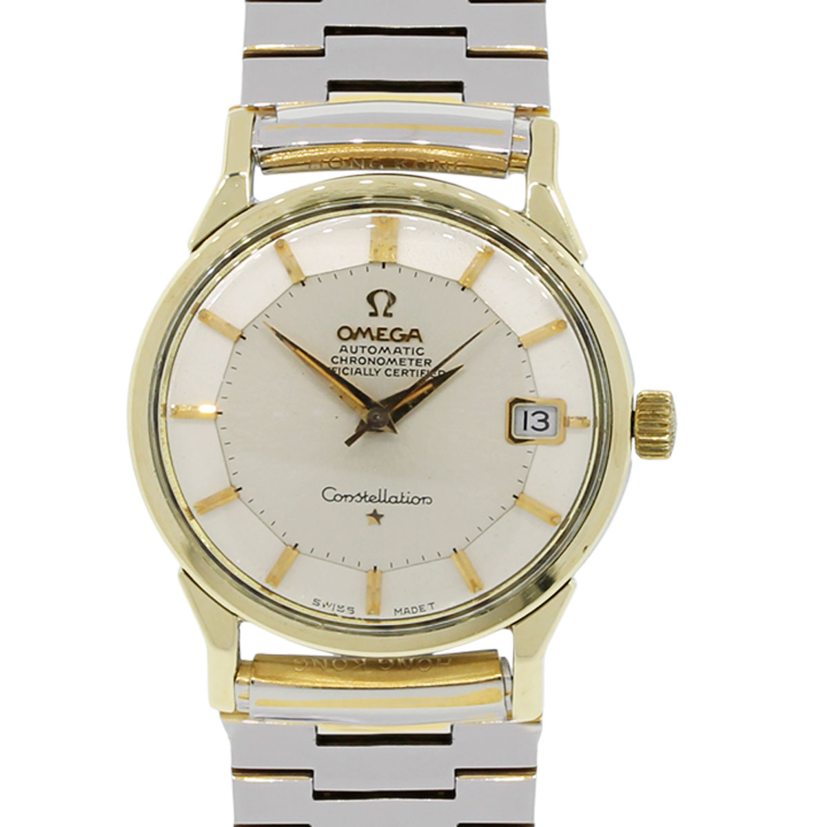 omega constellation gold plated automatic vintage