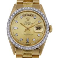 Rolex 1811 Day-Date Presidential Champagne Diamond Dial Watch