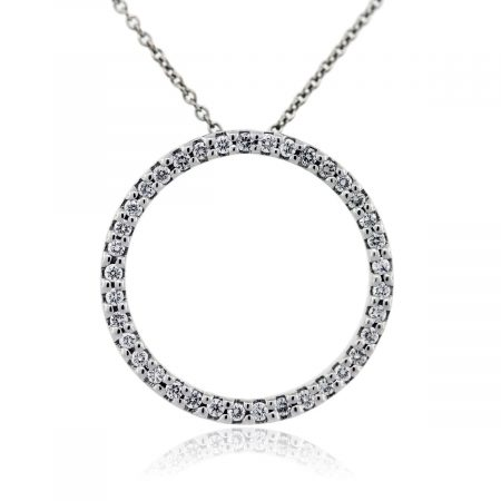 Roberto Coin Circle of Life Diamond Pendant and Chain