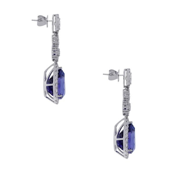 Tanzanite diamond earrings