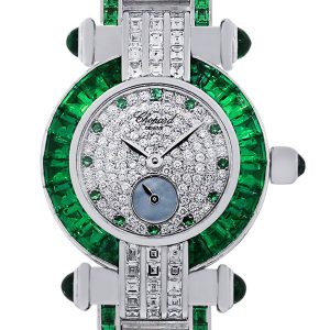 Chopard emerald diamond watch
