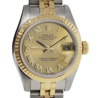 Rolex 179173 Two Tone Champagne Dial Ladies Watch