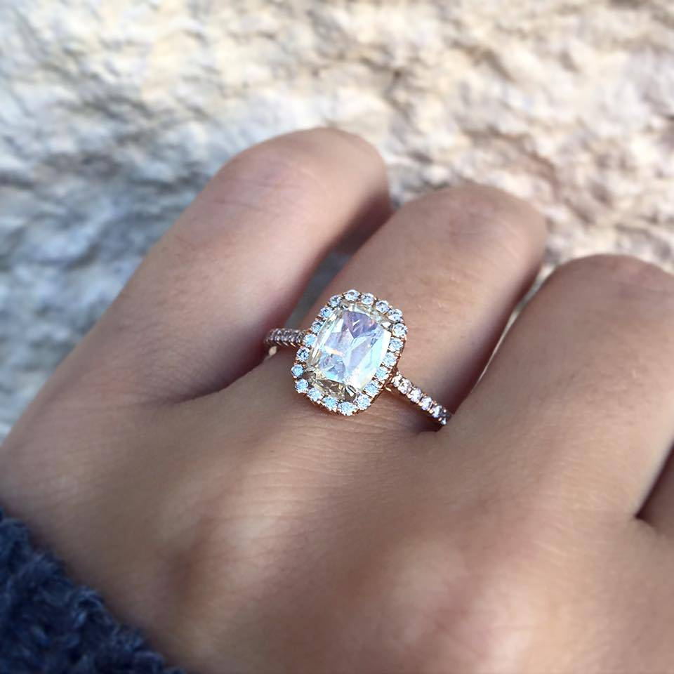Elegant Cushion Engagement Rings