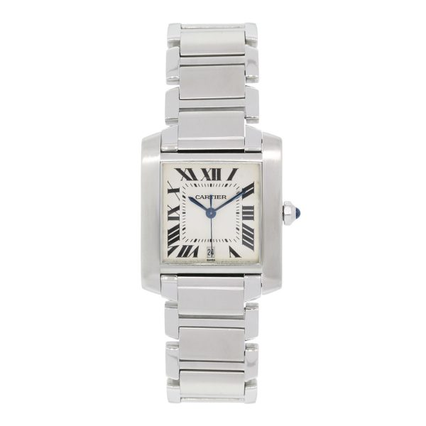 Cartier Tank Francaise 2302 Stainless Steel Watch