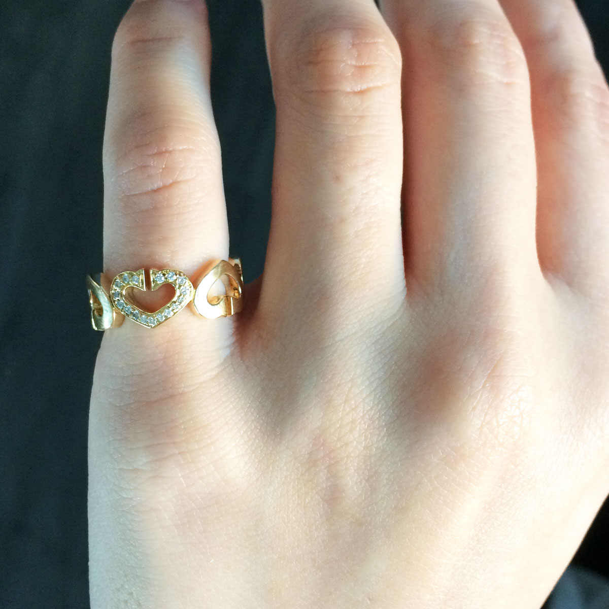 Cartier 18k Yellow Gold 0.0ctw Diamond Hearts and Symbols Ring