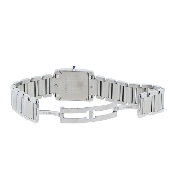 Cartier Francaise Tank 2384 Stainless Steel Ladies Watch