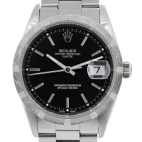 Rolex 15210 Date Stainless Steel Black Dial Watch