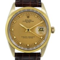 Rolex 1550 Date 18k/Stainless Steel Champagne Dial Mens Watch
