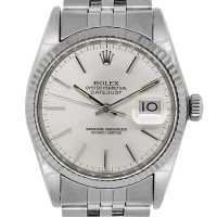 Rolex 16014 Datejust Stainless Steel Silver Dial Mens Watch