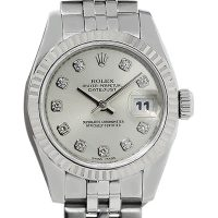 Rolex 179174 Datejust Stainless Steel Diamond Dial Ladies Watch