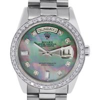 Rolex 18039 Presidential 18k Tahitian Mother Of Pearl Dial Watch