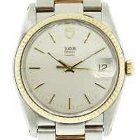 Two Tone Tudor 91533 Silver Stick Dial Watch