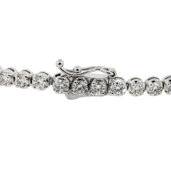 14k White Gold 4.18ctw Diamond Tennis Bracelet