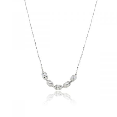 Officina Bernardi Platinum 7mm Pearl Thin Chain Necklace