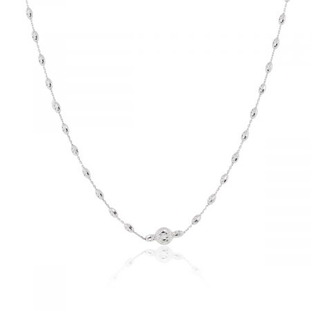 Officina Bernardi Platinum Diamond Cut Necklace