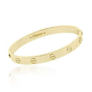 Cartier 18k Yellow Gold Size 16 Love Bangle