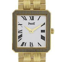 Piaget Protocole M601D 18k Yellow Gold White Dial Mens Watch