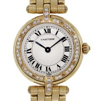 Cartier 18k Yellow Gold Diamond Ladies Panthere Vendome Cougar Watch