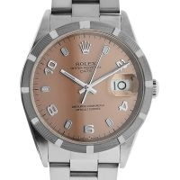 Rolex 15210 Date Stainless Steel Salmon Dial Watch