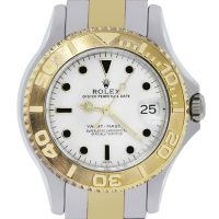 Rolex 68623 Two Tone Midsize Yacht Master Date Watch