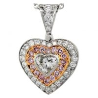 Michael Beaudry 18k White Gold 0.25ct Diamond Heart Shaped Necklace