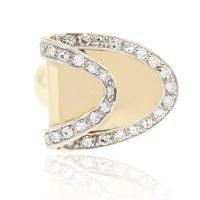 14k Yellow Gold 0.40ctw Diamond Buckle Ring