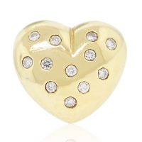 18k Yellow Gold 0.40ctw Diamond Heart Ring
