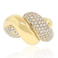 18k Yellow Gold 1.56ctw Diamond Ring