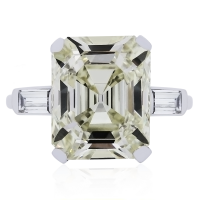Platinum 7.59ct Emerald Cut GIA Certified Diamond Engagement Ring