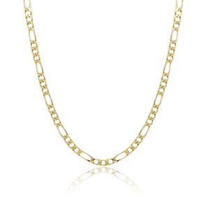 "14k Yellow Gold Figaro Link 17.50"" Chain Necklace"
