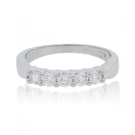 Platinum 0.40ctw Round Brilliant Diamond Wedding Band