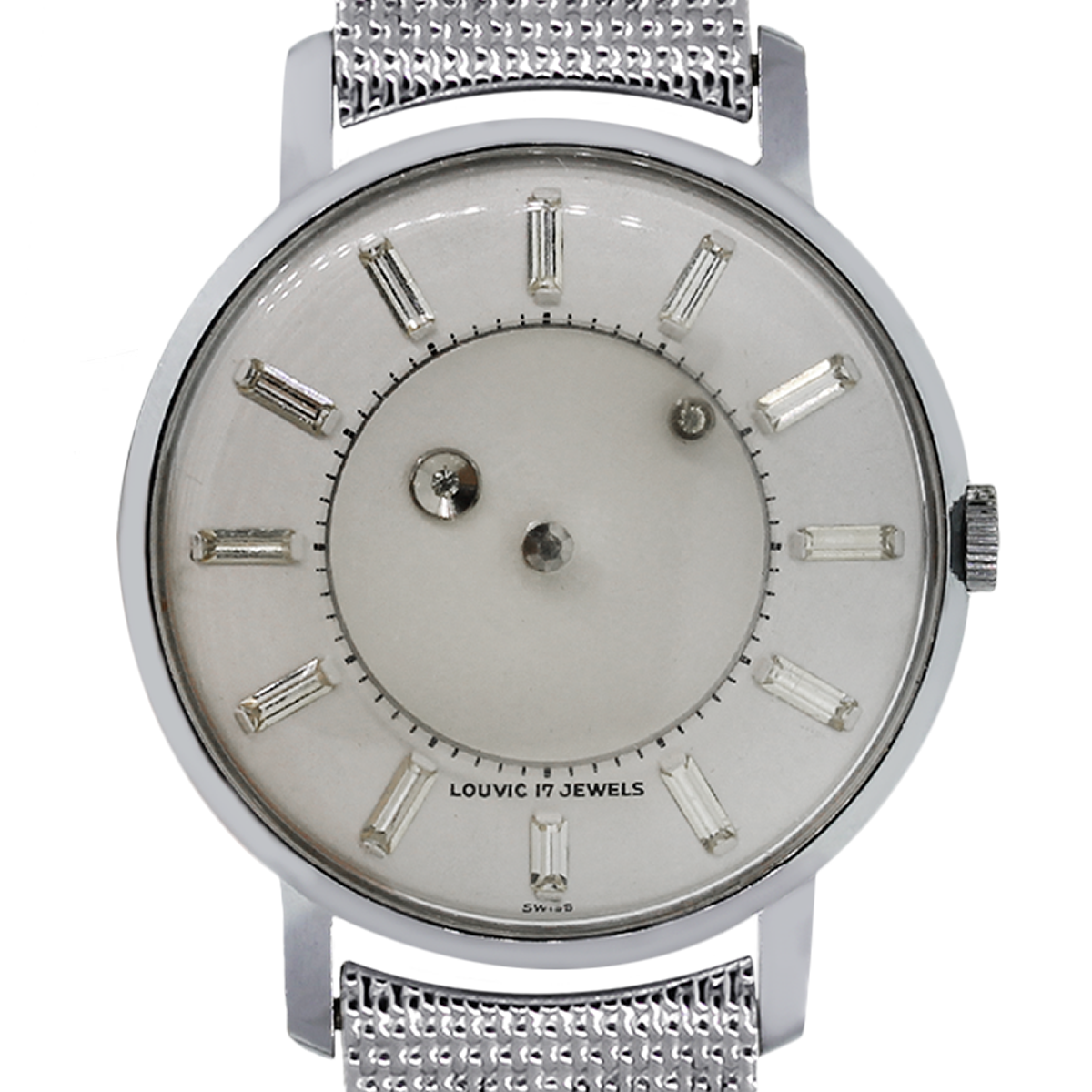 Louvic 17 Jewels Stainless Steel Mystery Dial Mens Watch