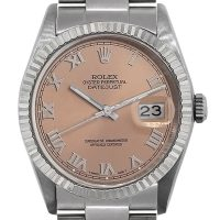 Rolex 16234 Datejust Stainless Steel Salmon Dial Watch