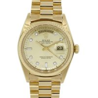 Rolex Day-Date 1803 Presidential Diamond Dial 18k Yellow Gold Watch