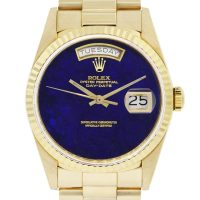 Rolex Day-Date 18038 Presidential Lapis Dial Mens Watch