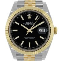 Rolex 126333 Datejust II 18k/Stainless Steel Black Dial Watch