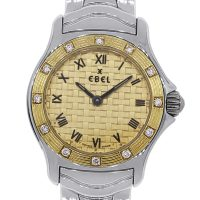 Ebel Wave 18k and Stainless Steel Diamond Bezel Ladies Watch