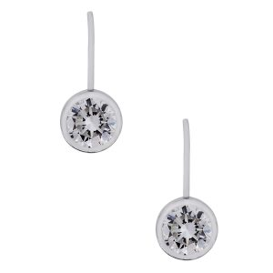 Diamond on wire earrings